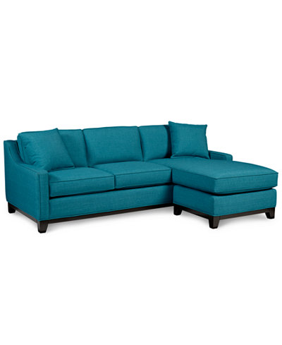 Keegan fabric 2 piece sectional sofa furniture macy39s for Clarke fabric sectional sofa 2 piece