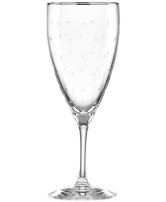 Larabee Dot Platinum Iced Beverage Glass