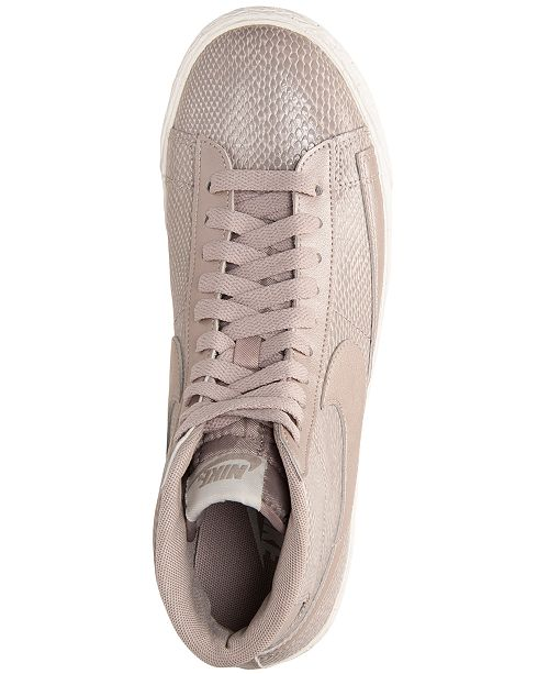 97989424727f ... Nike Women s Blazer Mid Leather Premium Casual Sneakers from Finish ...