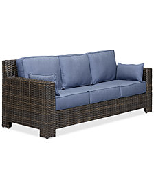 Viewport Wicker Outdoor Sofa with Sunbrella® Cushions, Created for Macy's