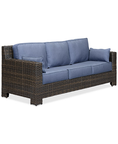 Viewport wicker outdoor sofa created for macy 39 s for Sofa exterior a medida