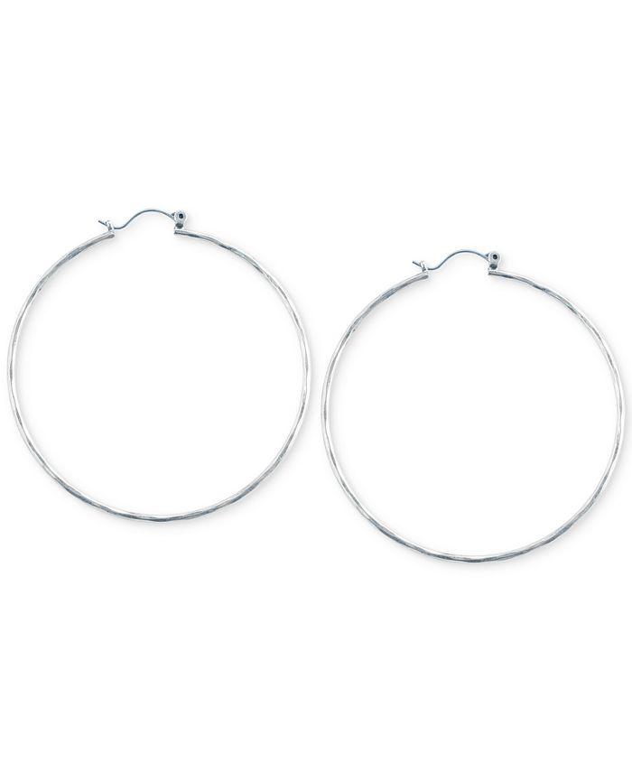 Lucky Brand - Big Hammered Hoop Earrings