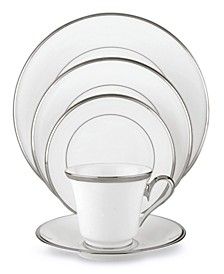 Solitaire White 5-Piece Place Setting