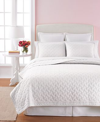 Martha Stewart Collection 100% Cotton White Basket Stitch Full ... : cotton queen quilts - Adamdwight.com