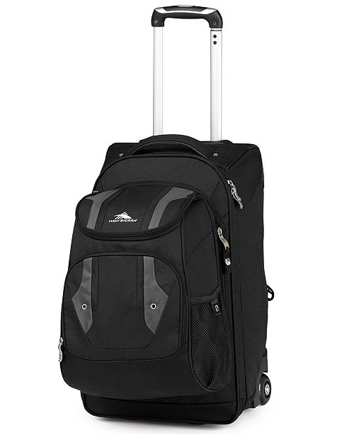 df412a958d High Sierra CLOSEOUT! Adventure Access Carry On Rolling Backpack ...