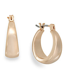 Charter Club Rose Gold-Tone Petite Hoop Earrings