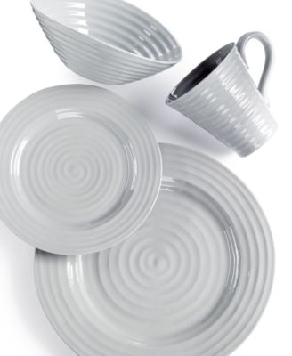 This item is part of the Portmeirion Sophie Conran Grey Collection  sc 1 st  Macyu0027s & Portmeirion Sophie Conran Grey 4 Piece Place Setting - Dinnerware ...