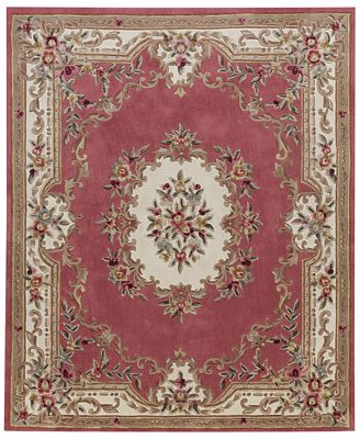 closeout! km home dynasty aubusson 4' x 6' area rug, created for