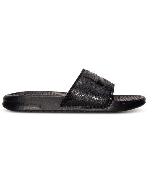 Nike Men s Benassi JDI Slide Sandals from Finish Line - Finish Line ... 7c0a500e8
