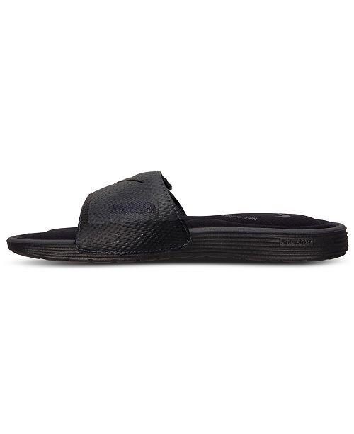 59b58581550 Nike Men s Solarsoft Comfort Slide Sandals from Finish Line ...