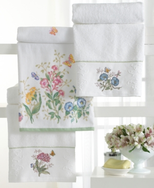 "Lenox ""Butterfly Meadow"" Bath Towel, 27"" x 50"" Bedding"
