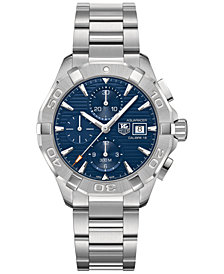 TAG Heuer Men's Swiss Automatic Chronograph Aquaracer Stainless Steel Bracelet Watch 43mm CAY2112.BA0925
