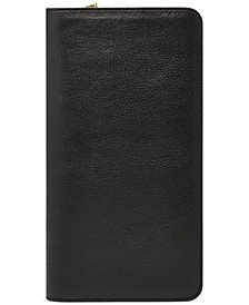 Multi-Zip Leather Passport Case