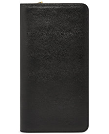 Fossil Multi-Zip Leather Passport Case