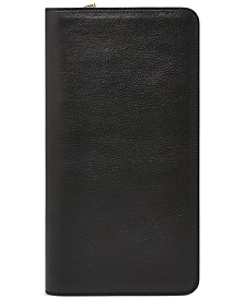 Fossil Multi-Zip Leather Passport Case