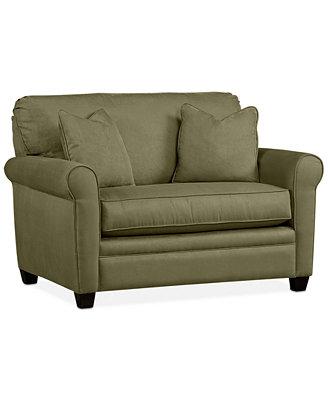 Kaleigh Fabric Twin Sleeper Chair Bed Custom Colors
