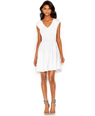 Bar Iii Cap Sleeve Fit Amp Flare Dress Only At Macy S