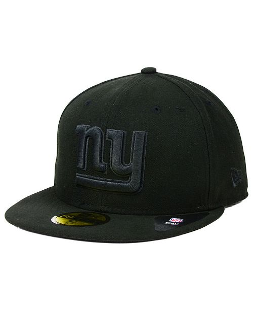 New Era New York Giants Black on Black 59FIFTY Fitted Cap