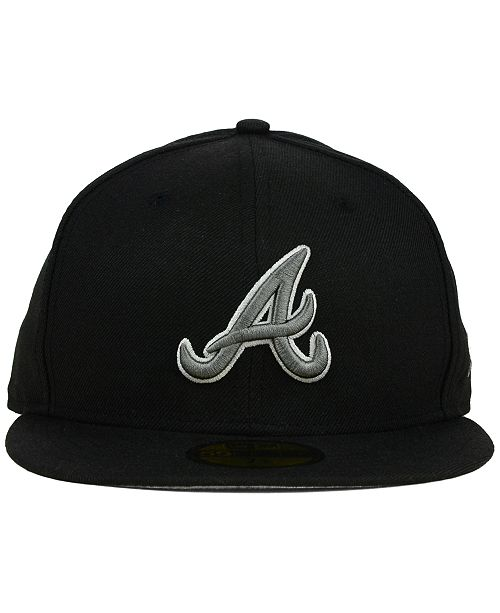 new concept 21354 eebb0 ... mlb cooperstown snapback cap 9fifty limited edition e39cf a8322   germany new era atlanta braves black graphite 59fifty cap sports fan shop  by lids men ...