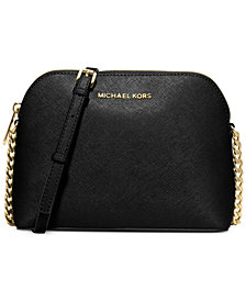 MICHAEL Michael Kors Cindy Saffiano Dome Crossbody