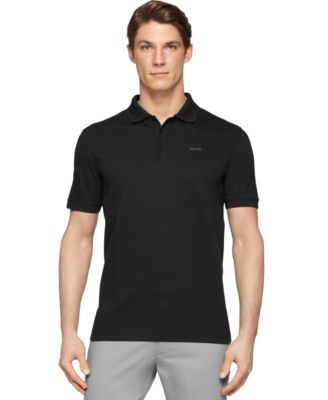 Image of Calvin Klein Men's Interlock Liquid Cotton Polo