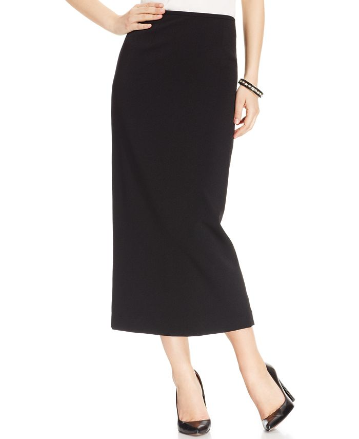 Kasper - Crepe Column Midi Skirt