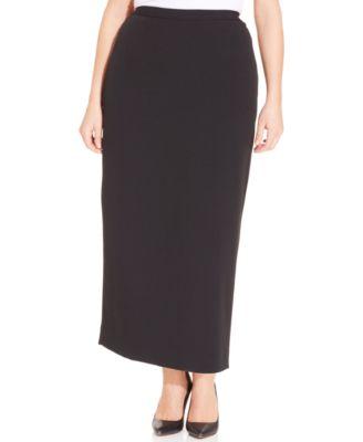 Plus Size Column Skirt