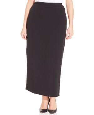 Kasper Plus Size Column Skirt thumbnail