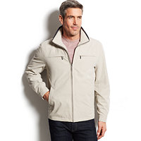 London Fog Litchfield Microfiber Hipster Jacket (Cement)