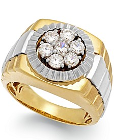 Men's Diamond Two-Tone Ring in 10k Gold (1 ct. t.w.)