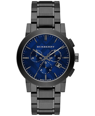 Burberry Men's Swiss Chronograph Gray Ion-Plated Stainless BU9365