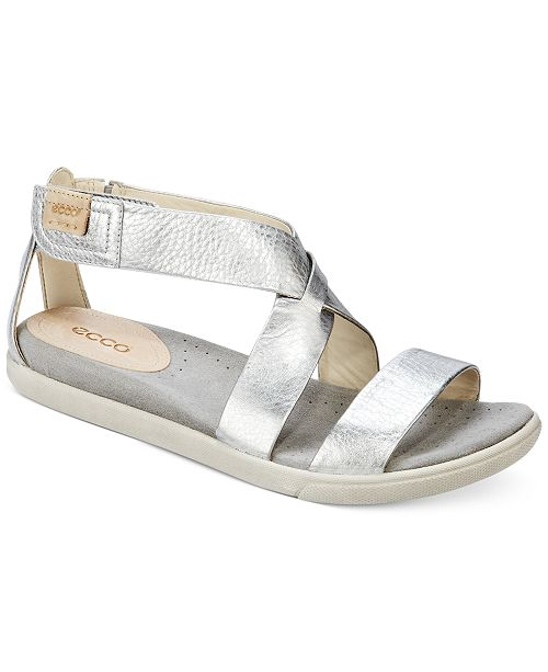 3c21d70666cd Ecco Women s Damara Flat Sandals   Reviews - Sandals   Flip Flops ...