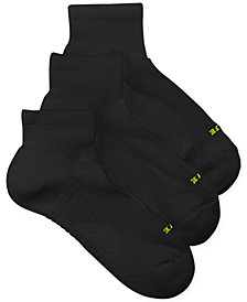 HUE® Women's Air Cushion Quarter Top Socks 3 Pack