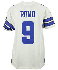 Nike Tony Romo Dallas Cowboys Game Jersey, Big Boys (8-20)