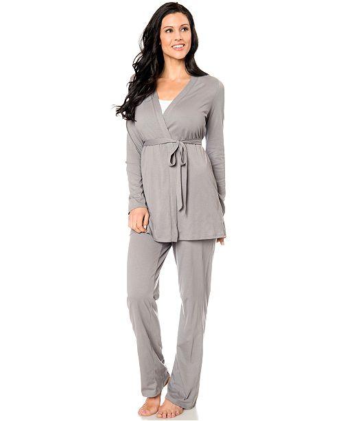 d9f08b239eb1b ... Motherhood Maternity Bump In The Night™ 3-Piece Nursing Pajama ...