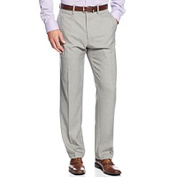 Kenneth Cole Reaction Straight-Fit Stretch Gabardine Solid Dress Pants Deals