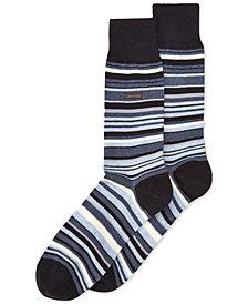 Calvin Klein Men's Striped Dress Crew Socks