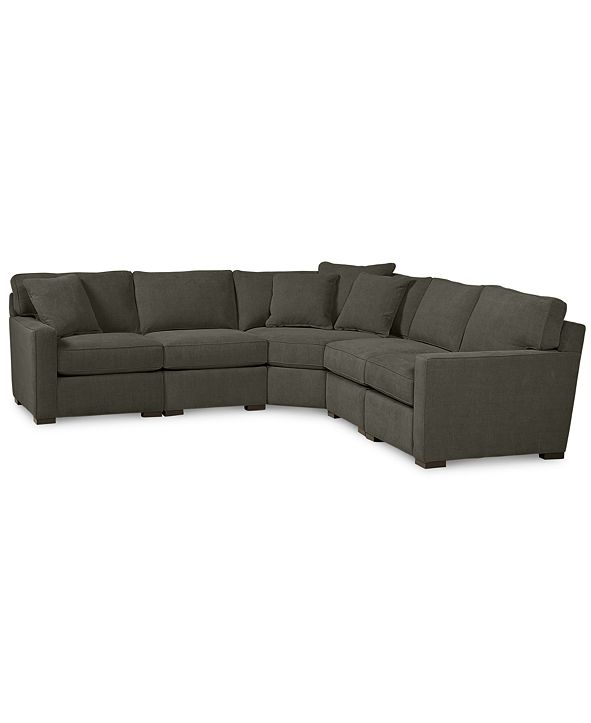 Furniture Radley Fabric 5-Piece Sectional Sofa, Created for Macy's