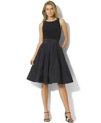 Lauren Ralph Lauren Pleated Cocktail Dress