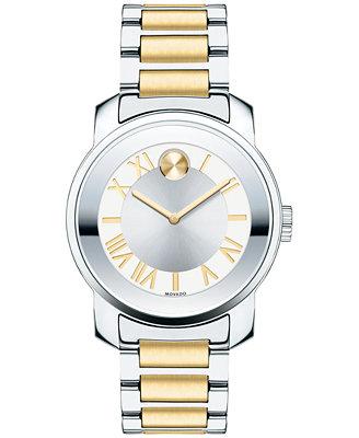 Women's Women's Bold Luxe Two Tone Stainless Steel Bracelet Watch 32mm 3600245 by Movado