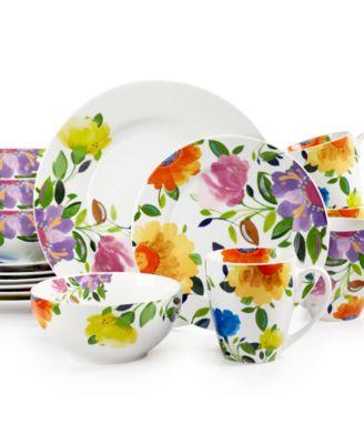 Kim Parker Provence Garden.  sc 1 st  Macyu0027s & Kim Parker 16-Pc. Zinnia Dinnerware Set Service for 4 Created for ...