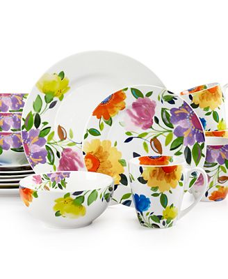 Kim Parker Provence Garden 16-Pc. Set, Service for 4