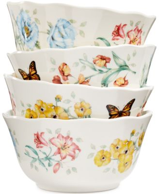 Butterfly Meadow Set of 4 Melamine All Purpose Bowls