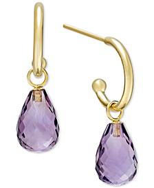Citrine Hoop Earrings (6-1/2 ct. t.w.) in 14k Gold (Also in Blue Topaz, Rhodolite Garnet & Amethyst)
