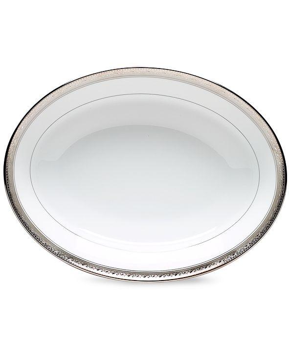 Noritake Dinnerware, Crestwood Platinum Oval Vegetable Dish