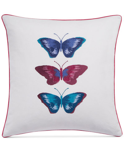 bluebellgray Embroidered Butterflies White 16