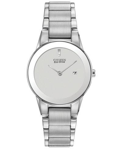 Citizen Women's Eco-Drive Stainless Steel Bracelet Watch 30mm GA1050-51A