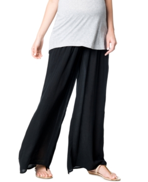 A Pea In The Pod Maternity Smocked Wide-Leg Pants plus size,  plus size fashion plus size appare