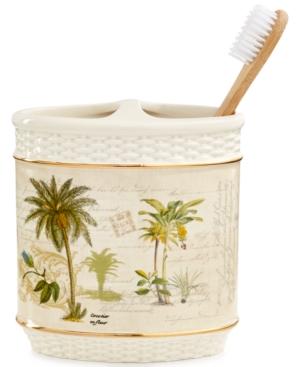 Avanti Colony Palm Toothbrush Holder Bedding