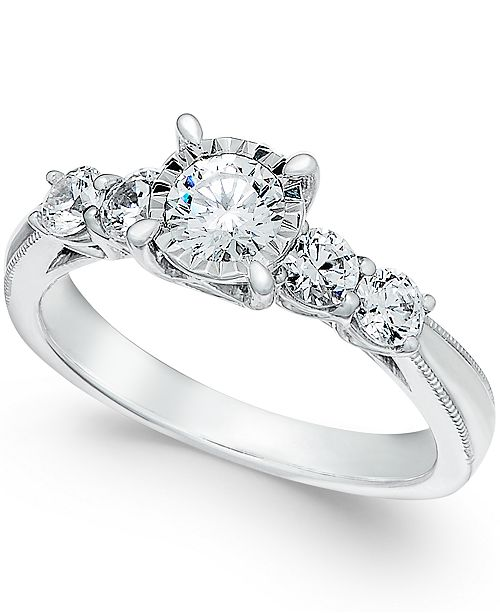 TruMiracle Diamond Engagement Ring in 14k White Gold (1 ct. t.w.)